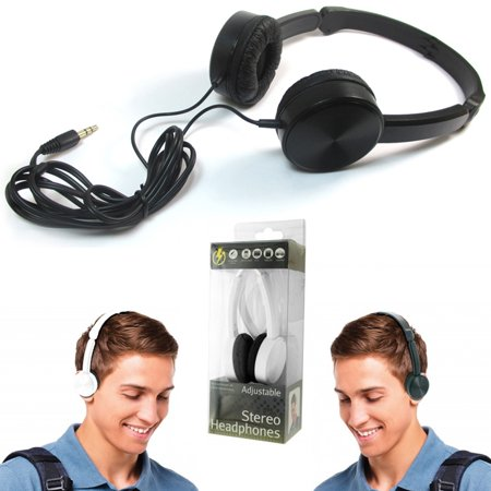 Over Head Stereo Headphones On Ear Foldable All Devices 3.5mm DJ iPod PC DVD MP3 ()