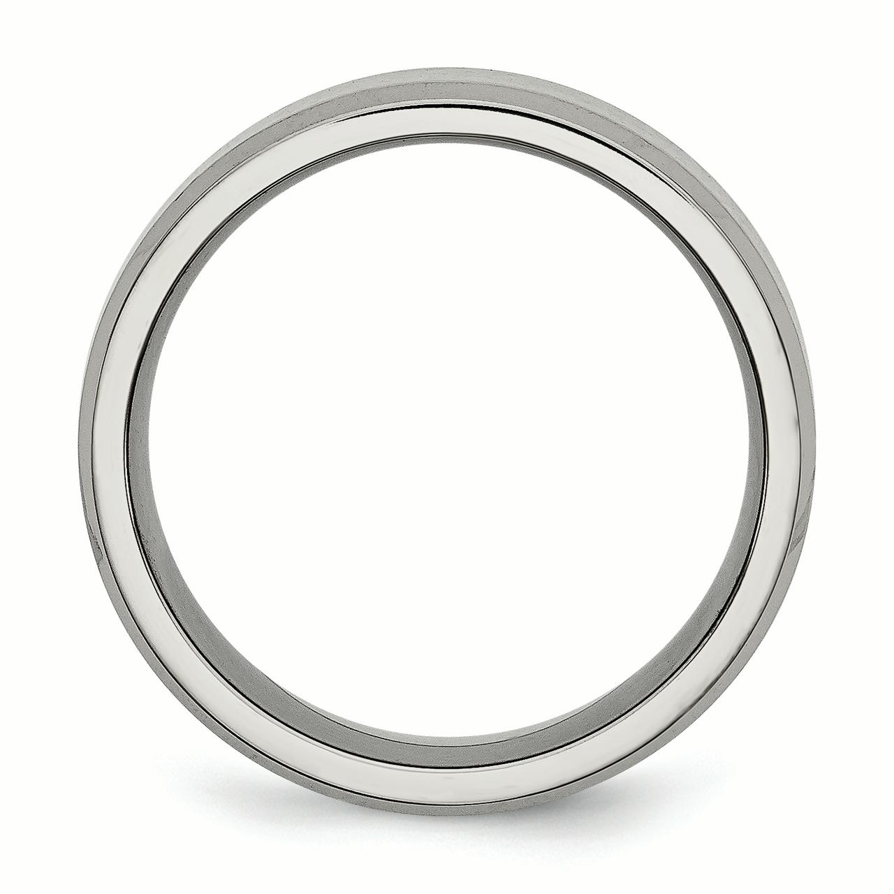 Titanium Beveled Edge 8mm Brushed Wedding Ring Band Size 12.00 Classic Flat W/edge Fashion Jewelry Gifts For Women For Her - image 4 of 6