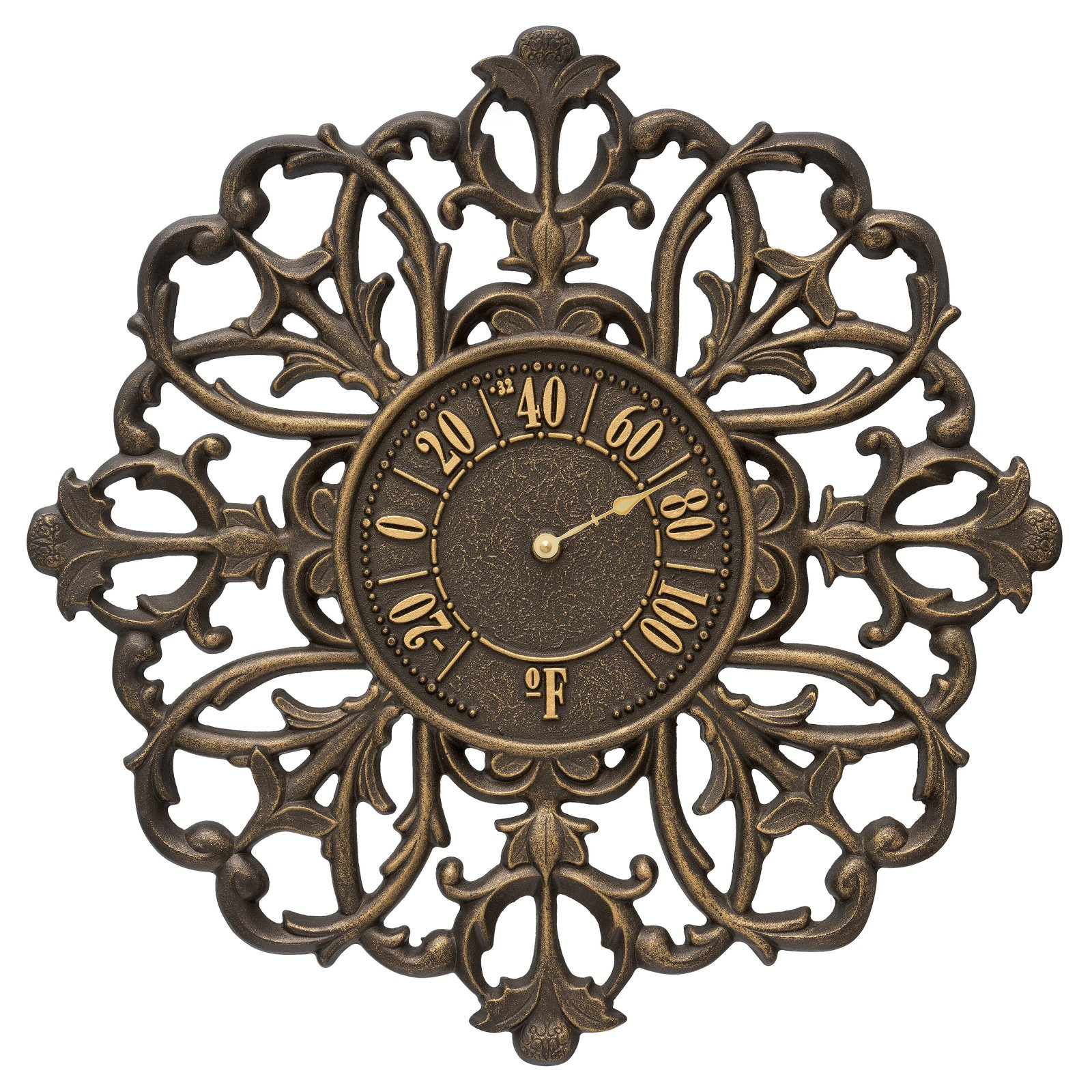 Whitehall Products Filigree Silhouette 21-in. Indoor/Outdoor Wall Thermometer