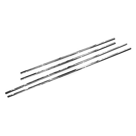 Sizver Polished Stainless Steel Window Sills Trims For 2011-2017 Toyota Sienna