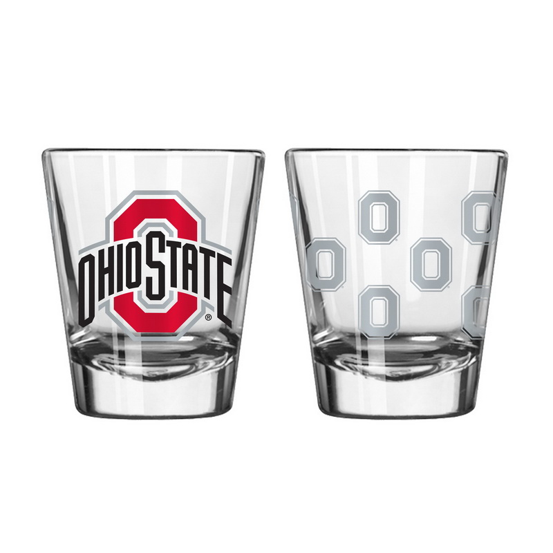 Boelter Brands Ohio State Buckeyes Shot Glass - 2 Pack Satin Etch