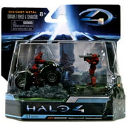 Halo S-1 Series UNSC Mongoose with Red Spartan Soldier & Warrior Diecast Set