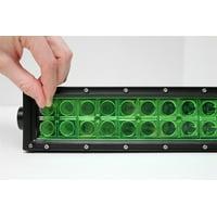 "One 2"" x 10"" Green Universal LED Light Bar Film Cover"