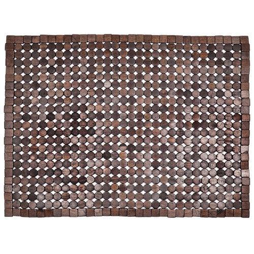 Entryways Muir Exotic Wood Mat, 18 by 30-Inch, Dark Brown