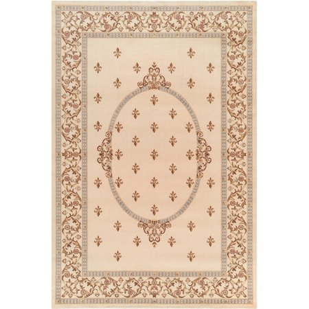Black Rug Gem - Concord Global Trading Jewel Collection Fleur De Lys Medallion Area Rug