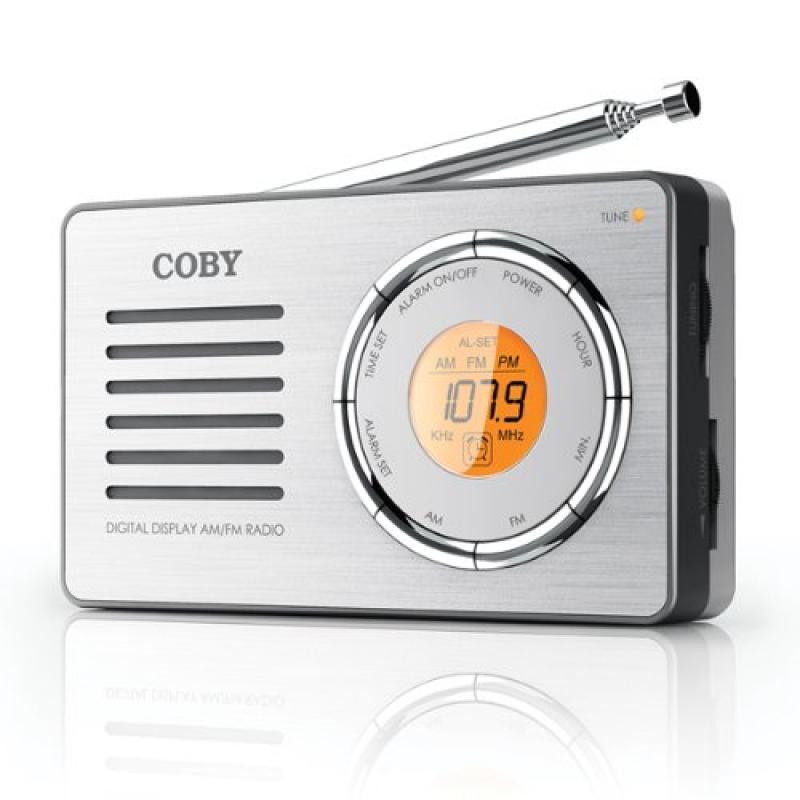 Coby CX50 Compact AM/FM Radio with DDigital Display