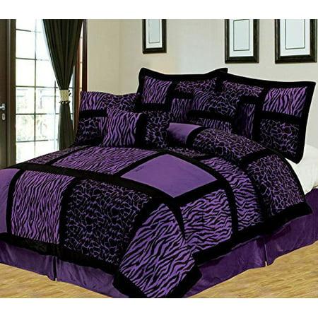 Empire Home Safari 8 Piece Purple King Size Comforter Set