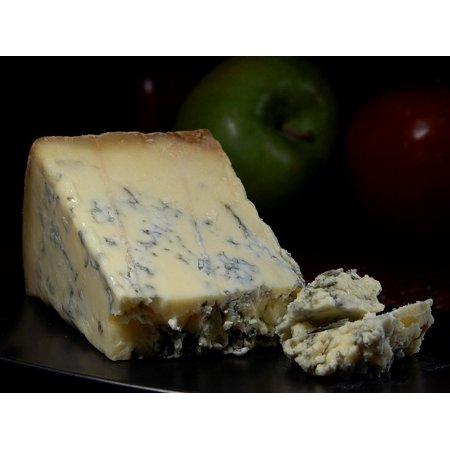 Canvas Print Stilton Blue Cheese Blue Mold Noble Mold Mold Stretched Canvas 10 x (Stilton Blue Cheese)