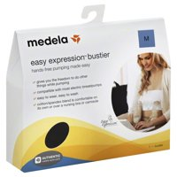 Medela Easy Expression Hands-Free Bustier, Black, Medium