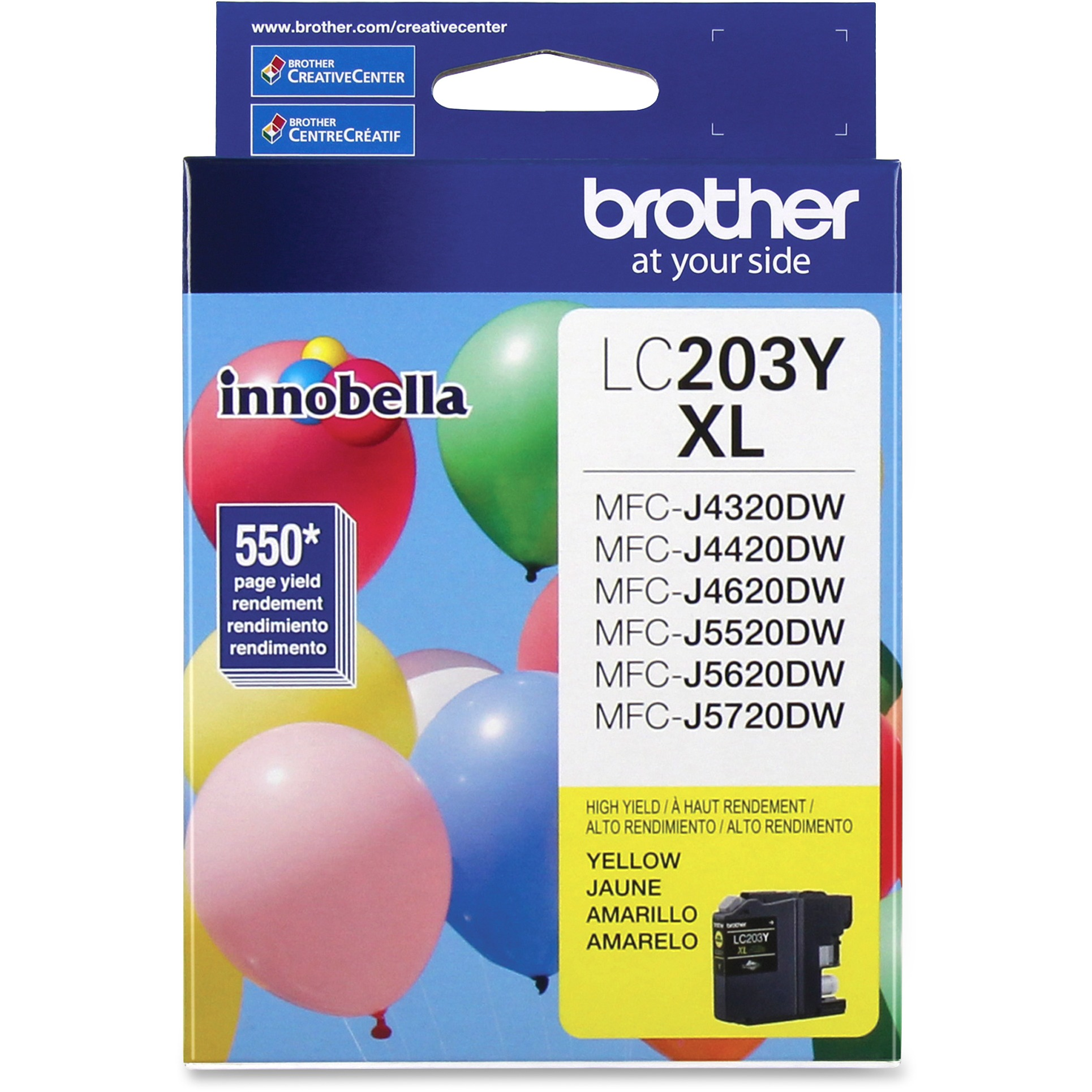 Brother LC203Y Innobella High-Yield Ink, Yellow