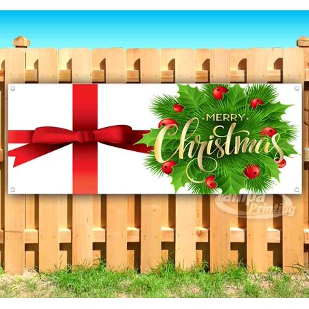 MERRY CHRISTMAS 13 oz heavy duty vinyl banner sign with metal grommets, new, store, advertising, flag, (many sizes available)