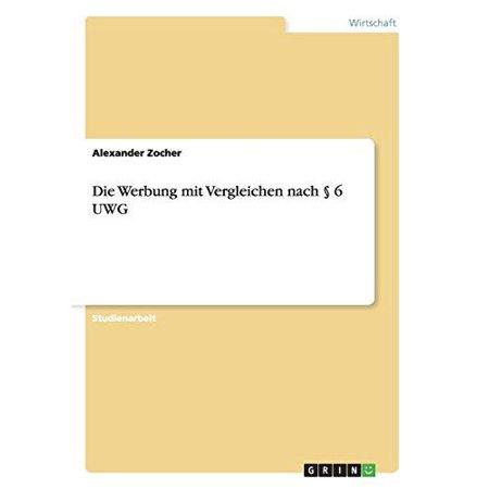 Die Werbung Mit Vergleichen Nach 6 Uwg - image 1 de 1