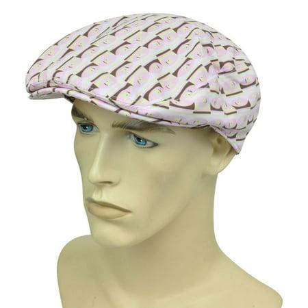 Playboy Bunny Cufflinks (Playboy Bunny Cabbie Fitted S/M Gatsby Newsboy Flat Pink Hat Cap Ivy)