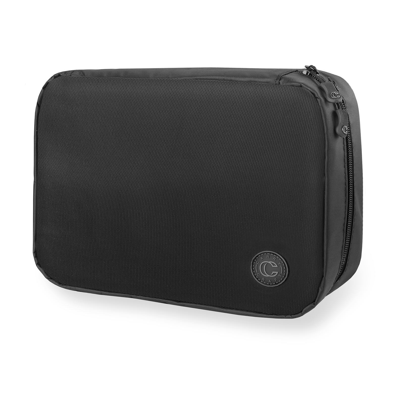 74217199ea71 Carry Craft Hanging Fold-Out Travel Toiletry Bag for Men and Women -  Organizer Case for Shaving Kit, Makeup and Hygiene Essentials - Black