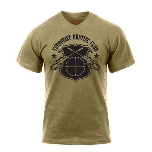 Rothco 'Terrorist Hunting Club' T-Shirt, Coyote Brown, Large