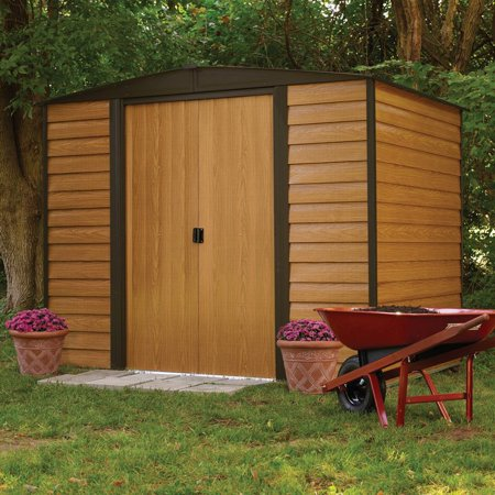 arrow shed woodridge 6 x 5 ft steel storage shed