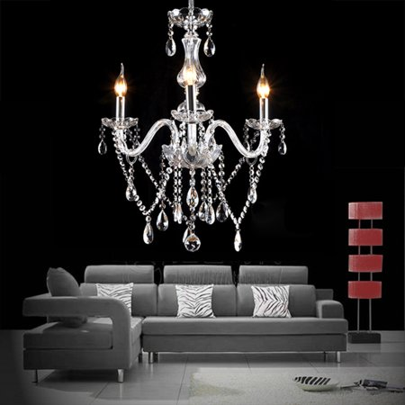 Ceiling Hanging Decorations (Yallstore Chandelier 3 Lights Fixture Pendant Ceiling Lamp for Dining Room Living Room)