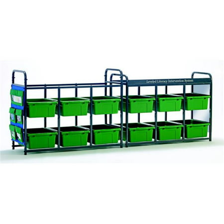 Copernicus Educational Products LLS300-G Leveled Literacy System - Lesson Storage Organizer with Green Tubs