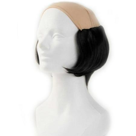 Short Tramp Bald Wig - Black - Bald Wigs