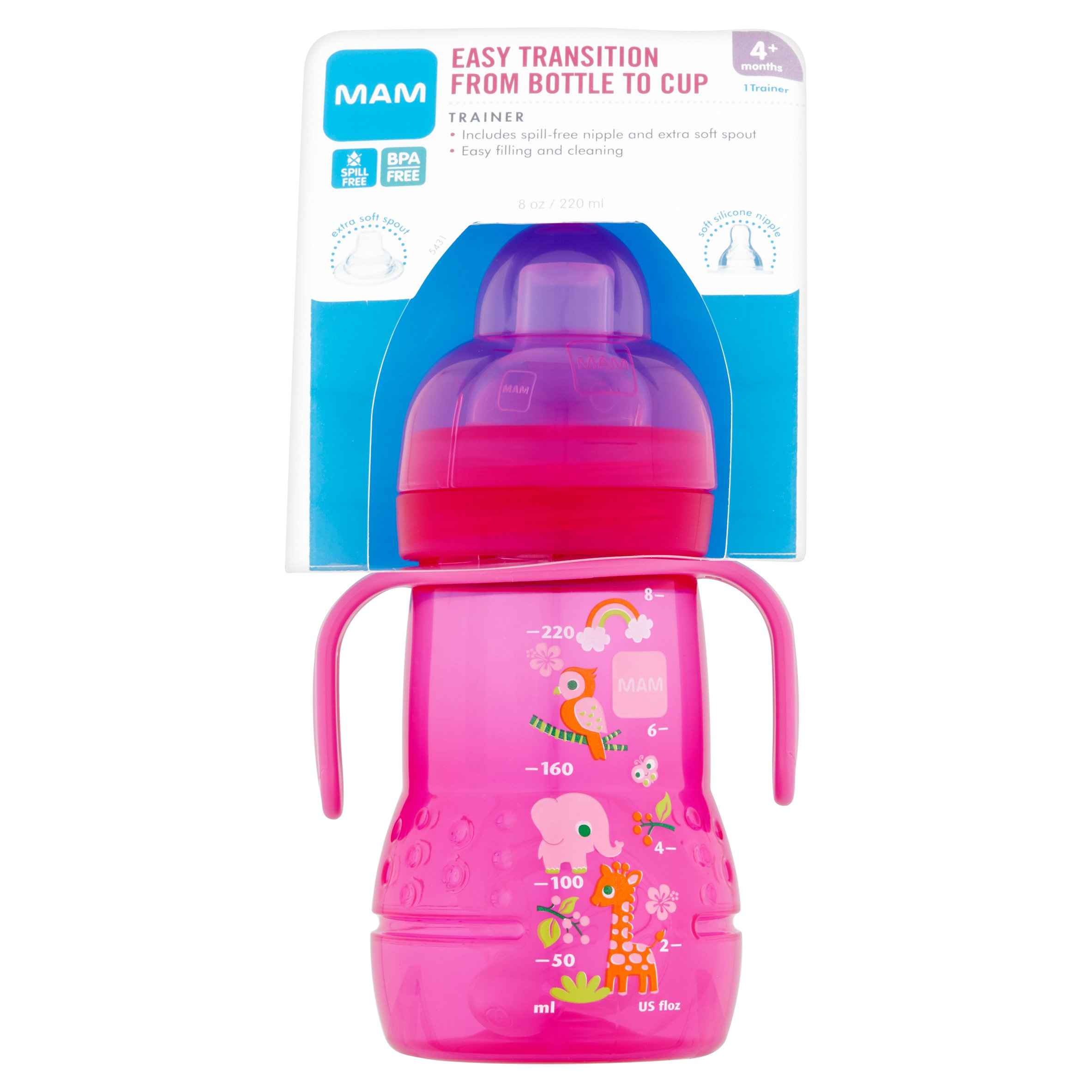 MAM 8-Ounce Trainer Cup, 1-Count, Girl by MAM