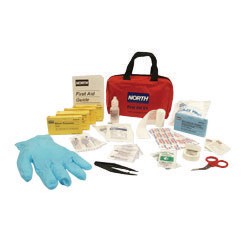 "North Medium Redi-Care 8 3/4"" X 6"" X 2 3/4"" CPR Barrier First Aid Kit"