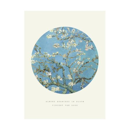 Old Masters, New Circles: Almond Branches in Bloom, San Remy, c.1890 Print Wall Art By Vincent van