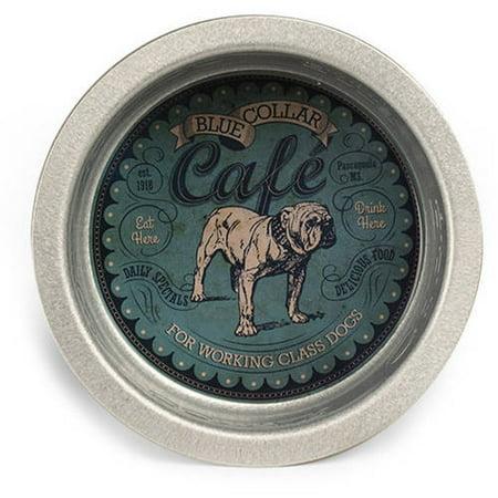3 Quart Feeding Station (Pet Champion Old Collar Caf 3 Quart Galvanized Steel Feeding Bowl )
