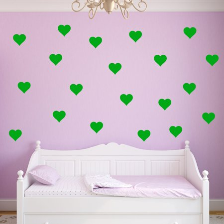 VWAQ Hearts Decals for Wall Pack of 20 Vinyl Stickers