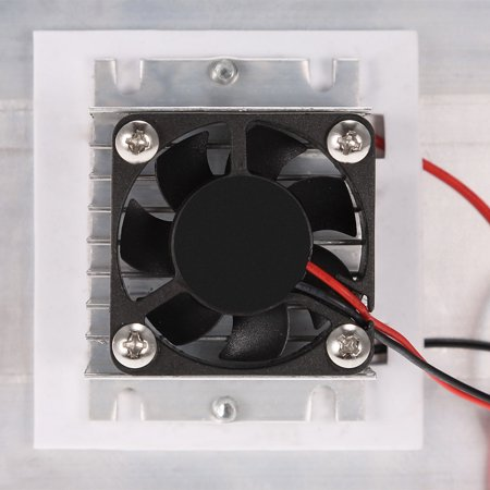 Thermoelectric Peltier Refrigeration Cooling System Kit Semiconductor Cooler Large Radiator Cold Conduction Module Double Fans - image 2 of 7