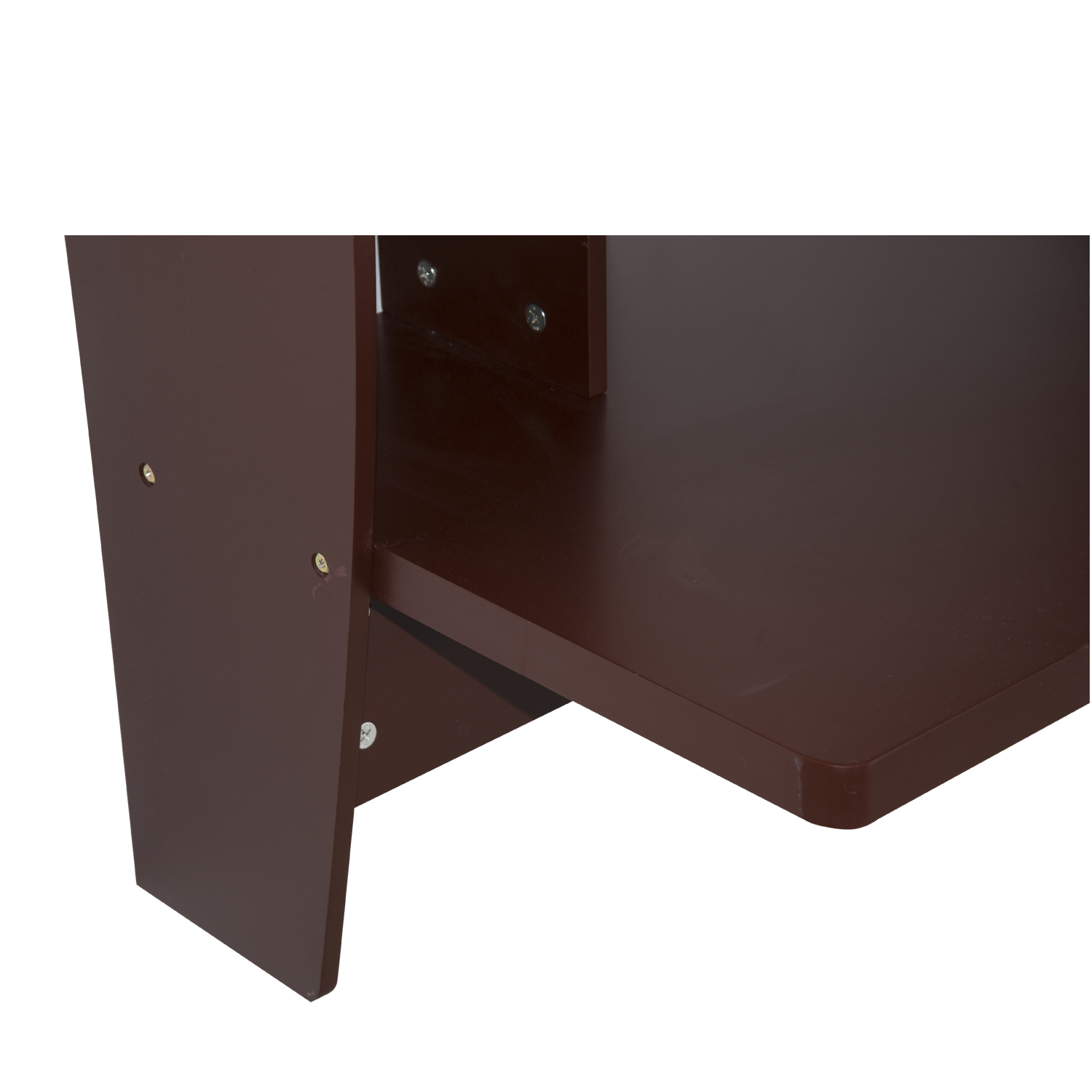 Homcom Floating Wall Mount Office Computer Desk With Storage Brown Com