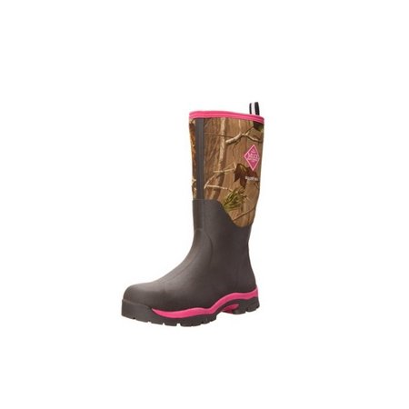 Muck Boot Womens Woody Cold Conditions Fashion Hunting Boot Bark Hot Pink W8 US (Hot Widow Boots)