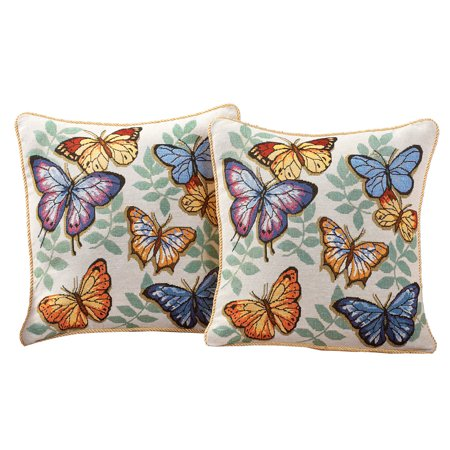 - Butterfly Decorative Tapestry Accent Pillow Covers, 17