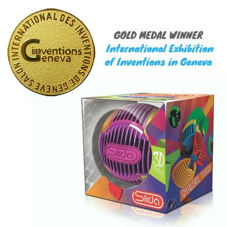 Halloween Brain Teasers For Kids (SLIDA 3D Puzzle Ball - Award-winning Brain Teaser Challenge for Kids and Adults (Fairy Floss)