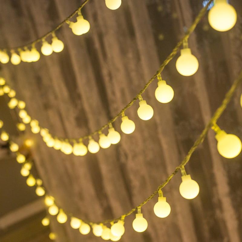 Torchstar Led 100 Leds Globe String, Globe Outdoor Lights String
