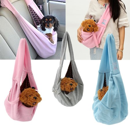 Small Pet Dog Cat Puppy Carrier Portable Soft Sling Bag Single Shoulder Bag Handbag Travel Tote Carry Pouch Cotton (Sling Style Pet Carrier)
