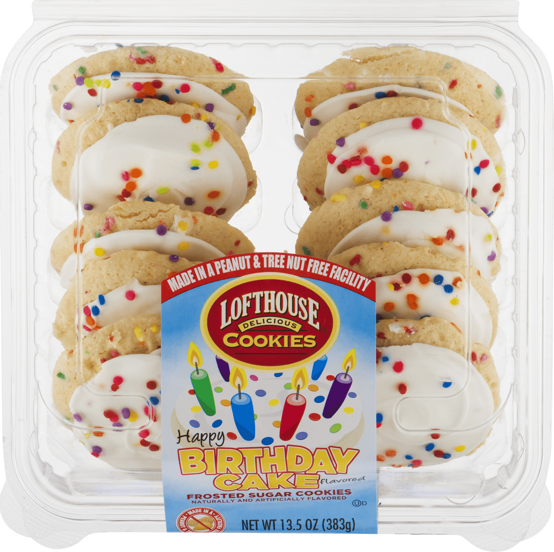 Lofthouse Delicious Cookies Happy Birthday Cake Flavored 135 OZ