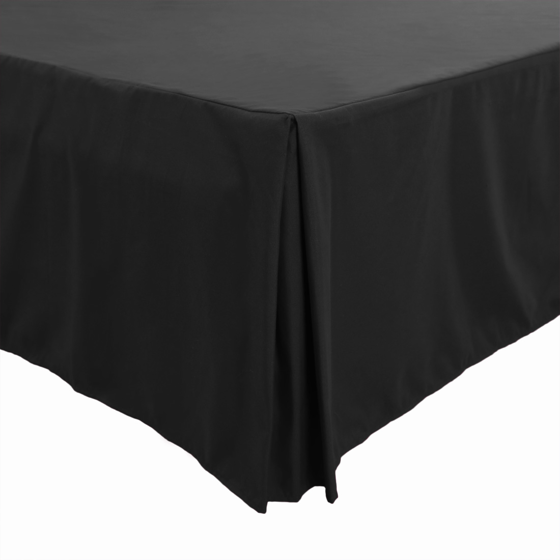 Classic Two Tone Box Pleated BedSkirt Tailored Styling Cotton Navy Blue ~White