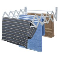 Home Basics Sunbeam Wall-Mounted Accordion Clothes Drying Rack
