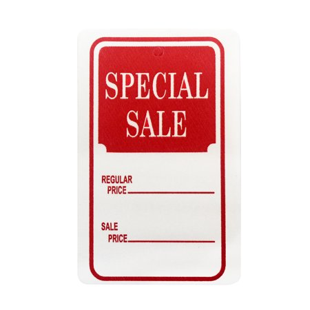 Amram Coupon Tags, White/Red 1.25