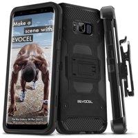 Galaxy S8 Plus Case, Evocel® [Trio Pro Series] Premium Hybrid Tri-Layer Protector Case [Kickstand] [Belt Swivel Clip] For Galaxy S8 Plus (SM-G955) (2017 Release), Black (EVO-SAMG955-HH11)
