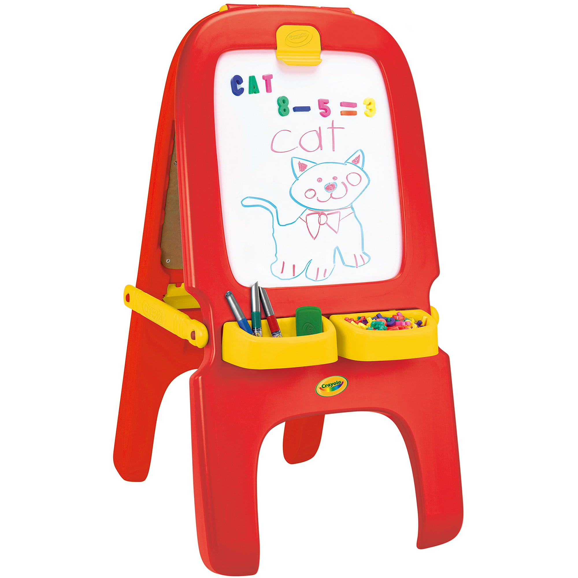 Crayola 3 In 1 Magnetic Dry Erase And Chalkboard Work Easel