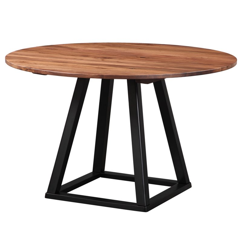 "Moe's Tri-Mesa 48"" Round Dining Table Brown"