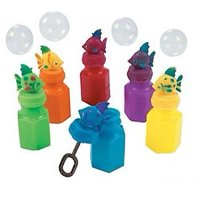 Tropical Fish Bubble Bottles-Indoor-Outdoor-Party Favors - 12 Assorted Tropical Fish Bubble Bottles