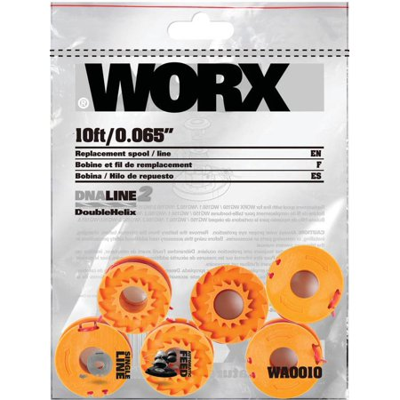 Worx Dna2 6 Pack Grass Trimmer Line For Cordless Series Wg150s  151S  152  155S  160  165  166  167 And 175