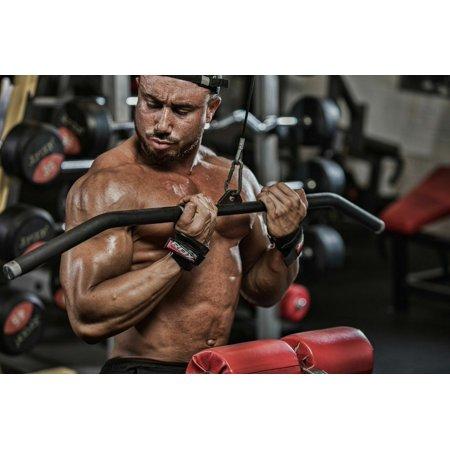 LIVEDITOR Auth Gewichtheben Griff Training Gym Strap Handschuhe Handgelenkschutz Bar D - image 6 de 7