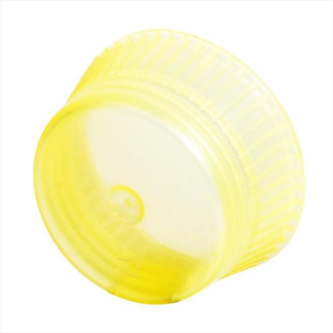 Bio Plas 6730 Uni-Flex Safety Caps 16mm Blood Collecting & Culture Tubes 1000 pk - Yellow