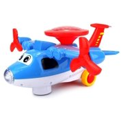Light Show Aviator Battery Operated Kids Bump and Go Toy Plane w/ Fun Flashing Lights Sounds