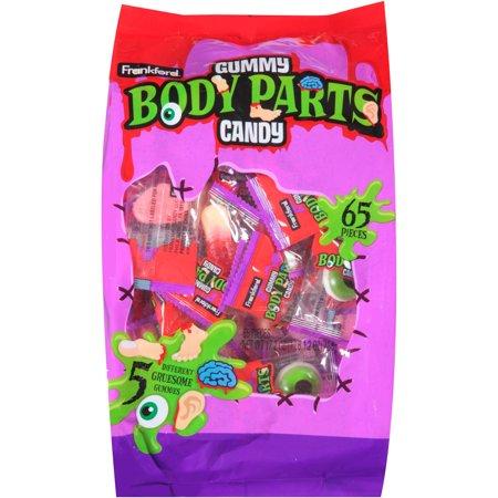 Frankford Gummy parties du corps Halloween Candy, 65 nombre, 17,2 oz
