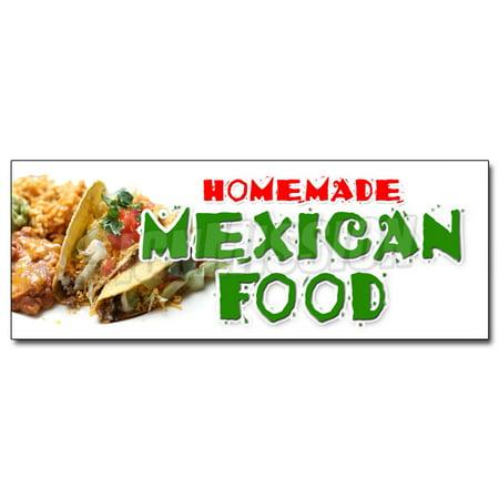 48   Homemade Mexican Food Decal Sticker Tacos Burritos Restaurant Enchilada