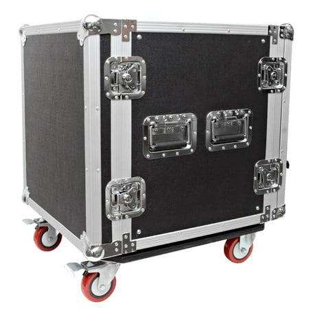 Seismic Audio 12 SPACE RACK CASE Amp Effect Mixer PA/DJ PRO Casters - SAR12